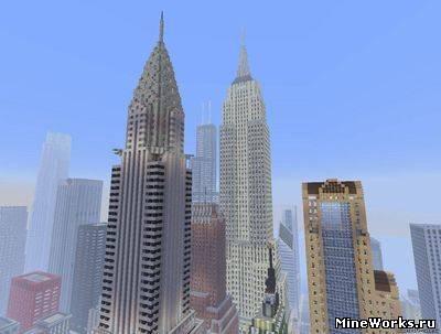 Карта для Майнкрафт Нью Йорк
